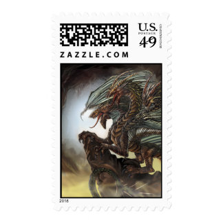 3-Headed Dragon Postage Stamp