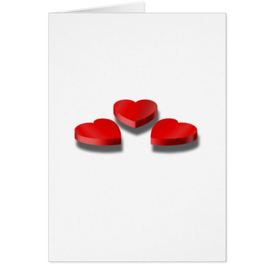 3 Heart shaped candy boxes Card