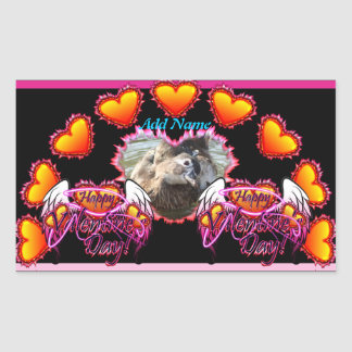 3 Hearts Angel Wings Happy Valentine s Day sign Stickers