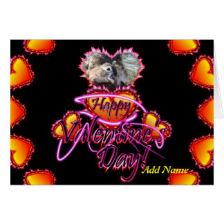 3 Hearts Happy Valentine's Day neon sign Greeting Card
