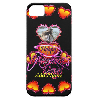 3 Hearts Happy Valentine's Day neon sign iPhone 5 Cases