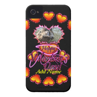 3 Hearts Happy Valentine's Day neon sign iPhone 4 Covers