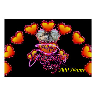 3 Hearts Happy Valentine's Day neon sign Poster