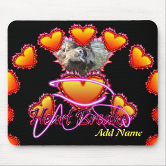 3 Hearts Heart Breaker neon sign Mouse Pad