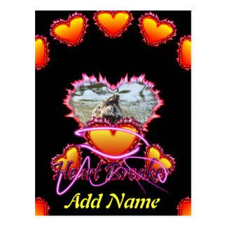 3 Hearts Heart Breaker neon sign Postcard