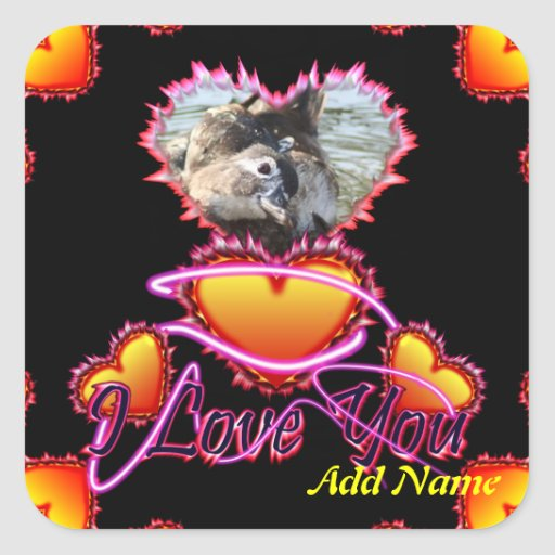 3 Hearts I Love You neon sign Stickers