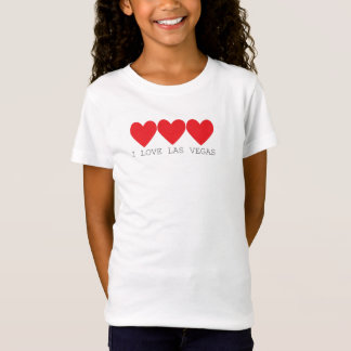3 hearts in red with Las vegas written underneath T-Shirt