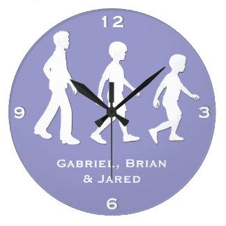 3 hermanos: Muchachos de papel del estilo del reco Reloj Redondo Grande