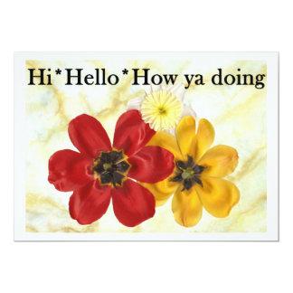 3 Hi Hello How ya doing Card