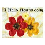 3 hola hola cómo usted que hace postal