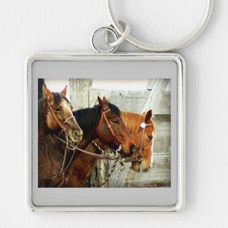 3 Horse Heads Keychain
