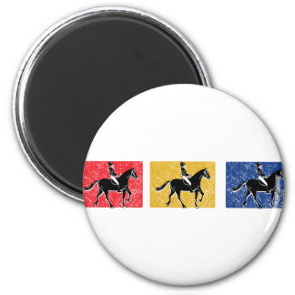 3-Horse-Riders 2 Inch Round Magnet