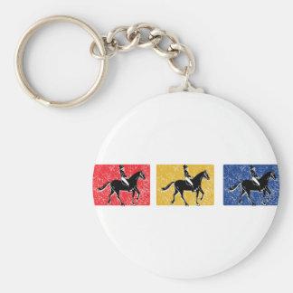 3-Horse-Riders Keychain