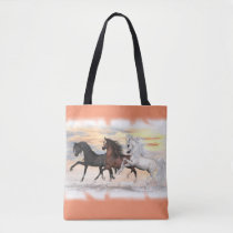 3 Horses All-Over-Print Tote Bag, You Customize