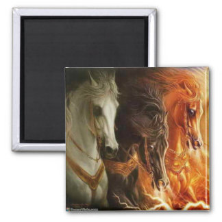 3 Horses Magnet