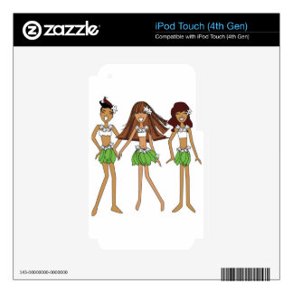 3 hula girls jpg skins for iPod touch 4G