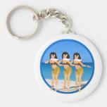 3 Hulas en la playa Llavero Personalizado