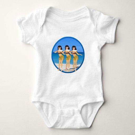 3 Hulas en la playa Remeras