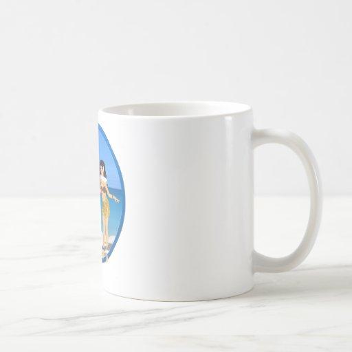 3 Hulas on beach Classic White Coffee Mug