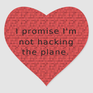 <3 I promise no h4x <3 Heart Sticker