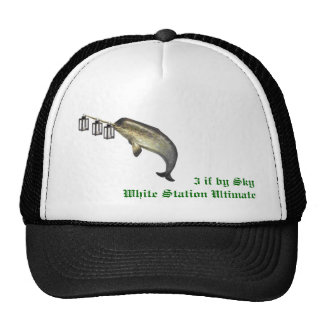 3 if by sky  White Station Ultimate Trucker Hat