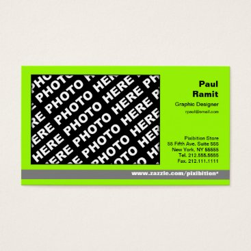Professional Business 3 in 1 Photo Calendar and Business Card Green Grey