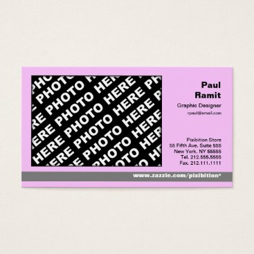 Professional Business 3 in 1 Photo Calendar and Business Card Pink Grey