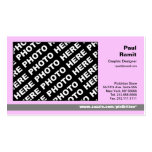 3 in 1 Photo Calendar and Business Card Pink Grey