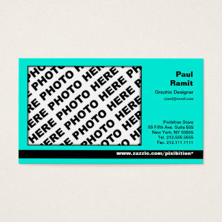 3 in 1 Photo Calendar and Business Card Turquoise