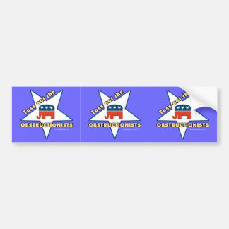 3-in-1 Toss Out the Republican OBSTRUCTIONISTS Bumper Sticker