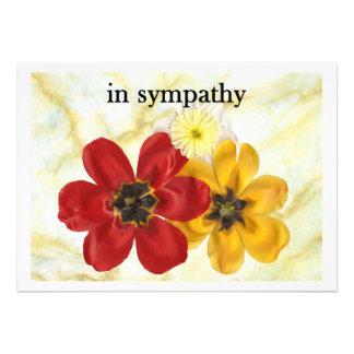 3 in sympathy custom invites