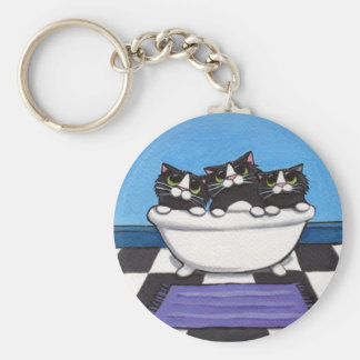 3 in the Tub - Cat Keychain
