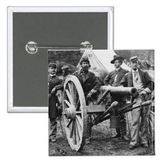 3 inch Ord Rifle Cannon - Civil War 2 Inch Square Button
