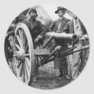 3 inch Ord Rifle Cannon - Civil War Classic Round Sticker