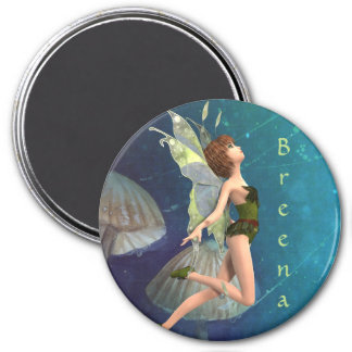 3 Inch Round Magnet; Fairy Collection: Breena Magnet