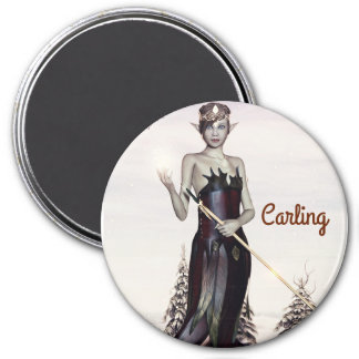 3 Inch Round Magnet; Fairy Collection: Carling Magnet