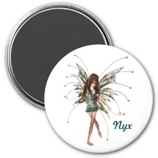 3 Inch Round Magnet; Fairy Collection: Nyx Magnet