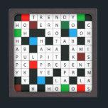 "3 Inch Square Gift Box<br><div class=""desc"">3&quot; Square Gift Box will delight crossword puzzle fans everywhere!</div>"