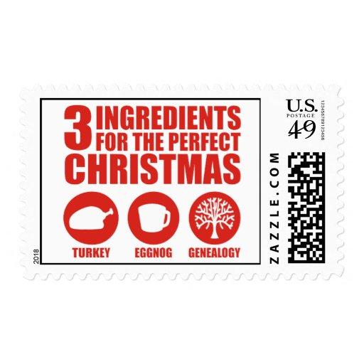 3 Ingredients Postage Stamp