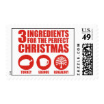 3 Ingredients Postage Stamps