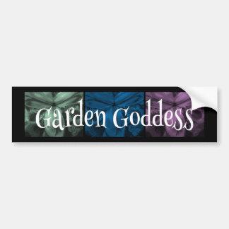 """3 Irises: """"Garden Goddess"""" Cool Forest2 colors Car Bumper Sticker"""