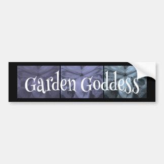 """3 Irises: """"Garden Goddess"""" Cool Frost1 colors Car Bumper Sticker"""