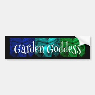 "3 Irises: ""Garden Goddess"" Tropical Isle colors Car Bumper Sticker"