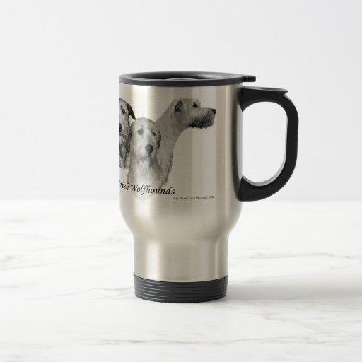 3 Irish Wolfhound heads Coffee Mug