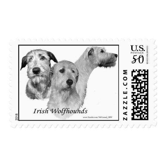 3 Irish Wolfhound heads Postage