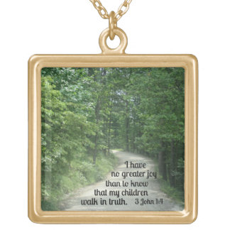 3 John 1:4 Gold Plated Necklace
