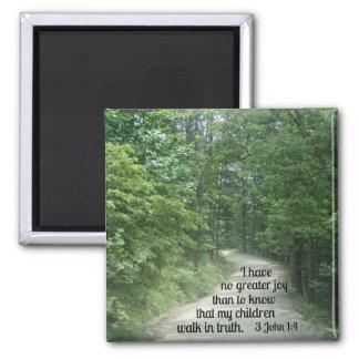 3 John 1:4 2 Inch Square Magnet