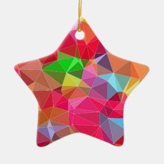 3.jpg polivinílico bajo adorno navideño de cerámica en forma de estrella