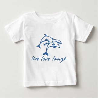 3 jumping dolphins, live, love laugh! baby T-Shirt