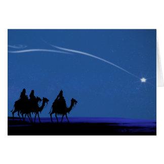 3 Kings Blue Night Sky Christmas Card